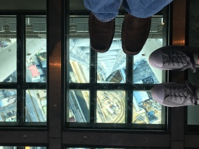 Conquered a fear - standing on glass above this height