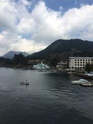 Coming into dock at Hakonemachi-ko