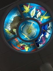 Stain Glass artwork in the cabin